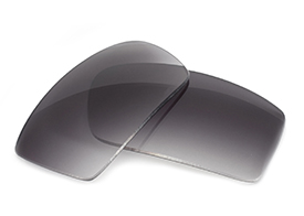 FUSE Lenses for Oakley Square Wire II New (2014) Grey Gradient Tint