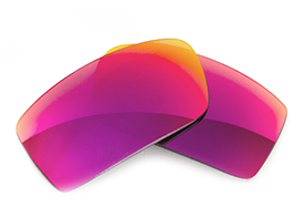 Fuse Lenses for Nike Mercurial 8.0 - Multi-Colored Red Metal Mirror Polarized