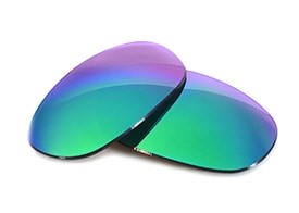 Fuse Lenses for Maui Jim Titanium MJ-551-23 - Sapphire Mirror Polarized
