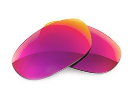Fuse Lenses for Maui Jim Titanium MJ-551-23 - Multi-Colored Red Metal Mirror Polarized