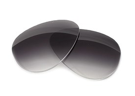 FUSE Lenses for Black Flys Fixie Fly Grey Gradient Polarized Lenses