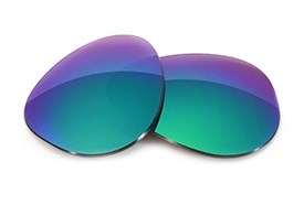 FUSE Lenses for Maui Jim Baby Beach MJ-245 (56mm) Sapphire Mirror Tint