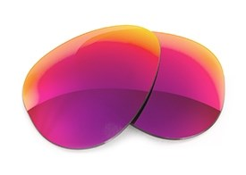 Fuse Lenses for Ray-Ban RB3029 Outdoorsman II (62mm) - Multi-Colored Red Metal Mirror Tint