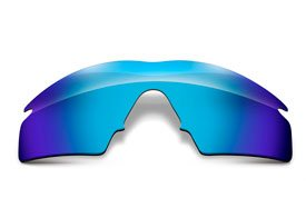 FUSE Glacier Mirror Polarized Replacement Lenses for Oakley M Frame Strike
